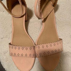Blush Strappy heels from LOFT